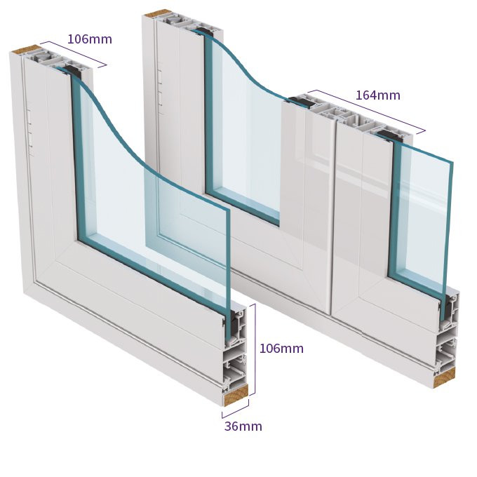 Series 50 side hung casement secondary glazing isometric