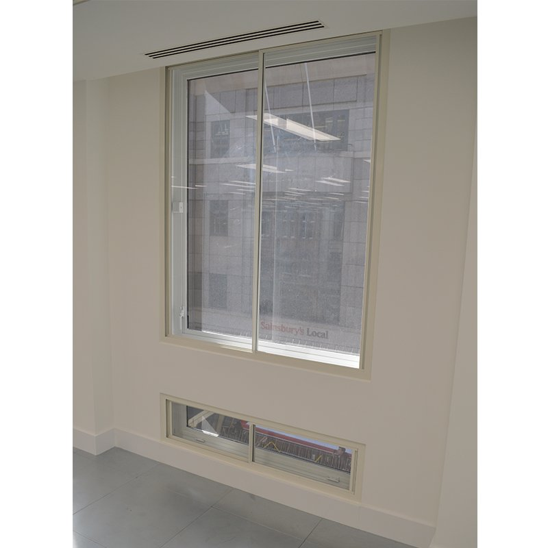 secondary glazing at Sherborne House, Cannon Street London