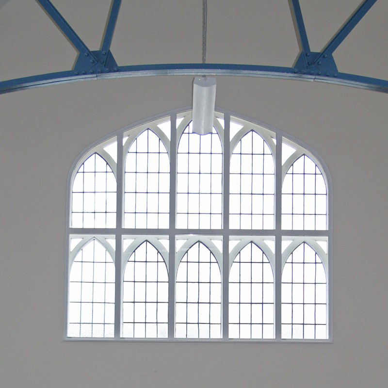 Large decocorative window with Selectaglaze secondary glazing in St Pauls Church Hall