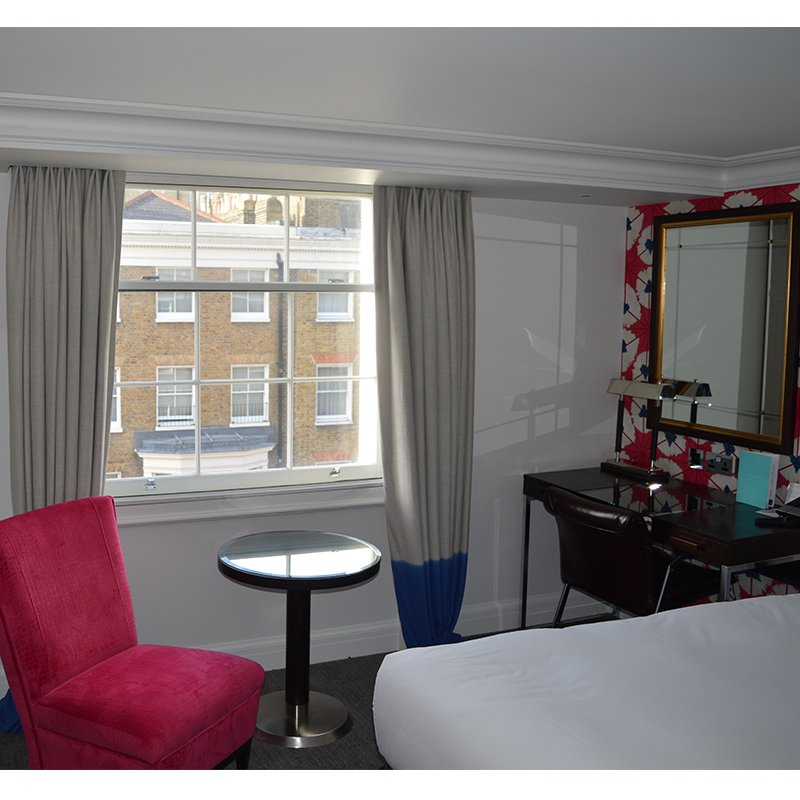 Selectaglaze secondary glazing in London hotel bedroom for noise reduction