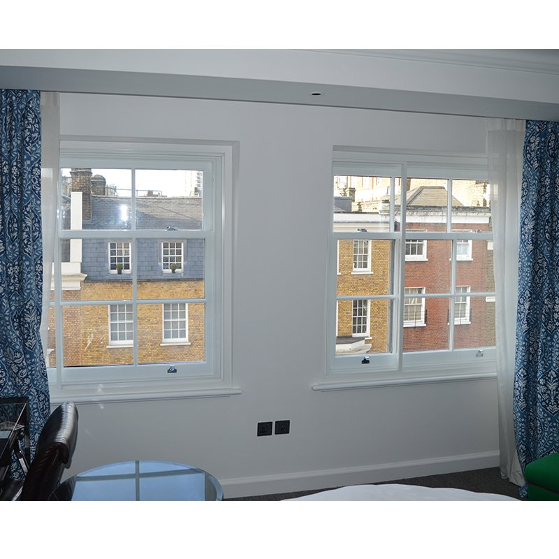 Secondary double glazing for lower heating bills in The Arch Hotel London