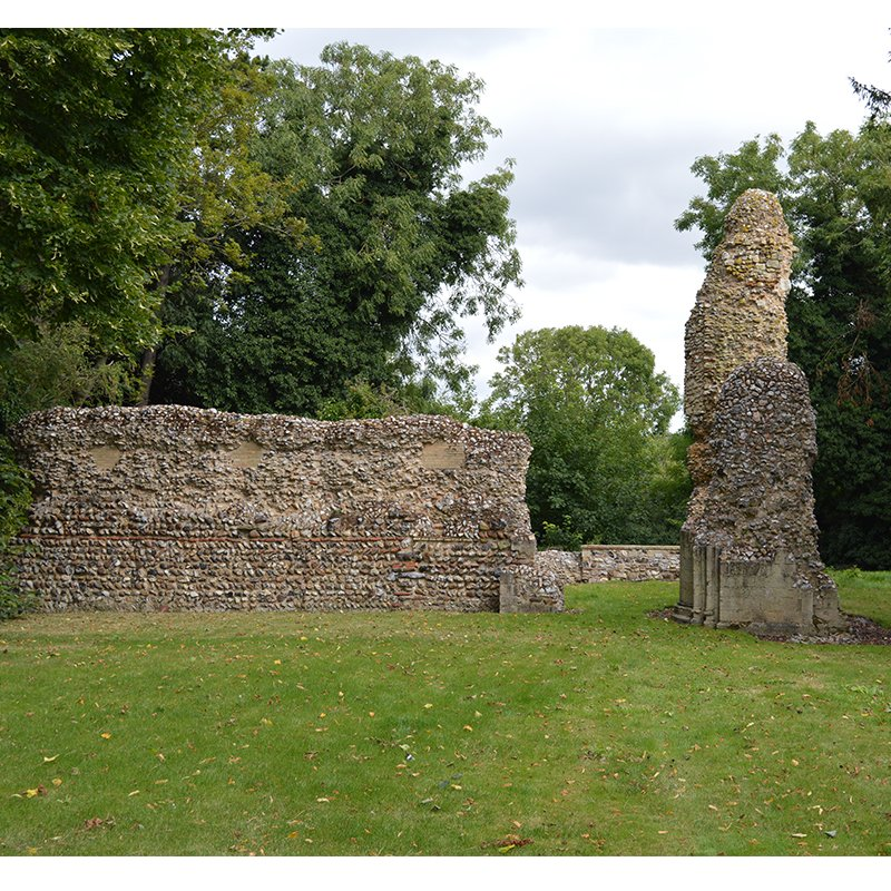 Ruins in garden of 12th Century Augustine Priory