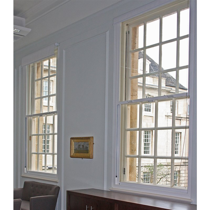 Selectaglaze series 90 secondary glazing for BREEAM excellent Wiltshire Town Hall meeting room