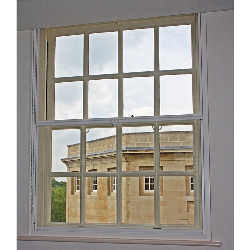 Series 20 vertical sliding secondary glazing unit - Wiltshire Town Hall